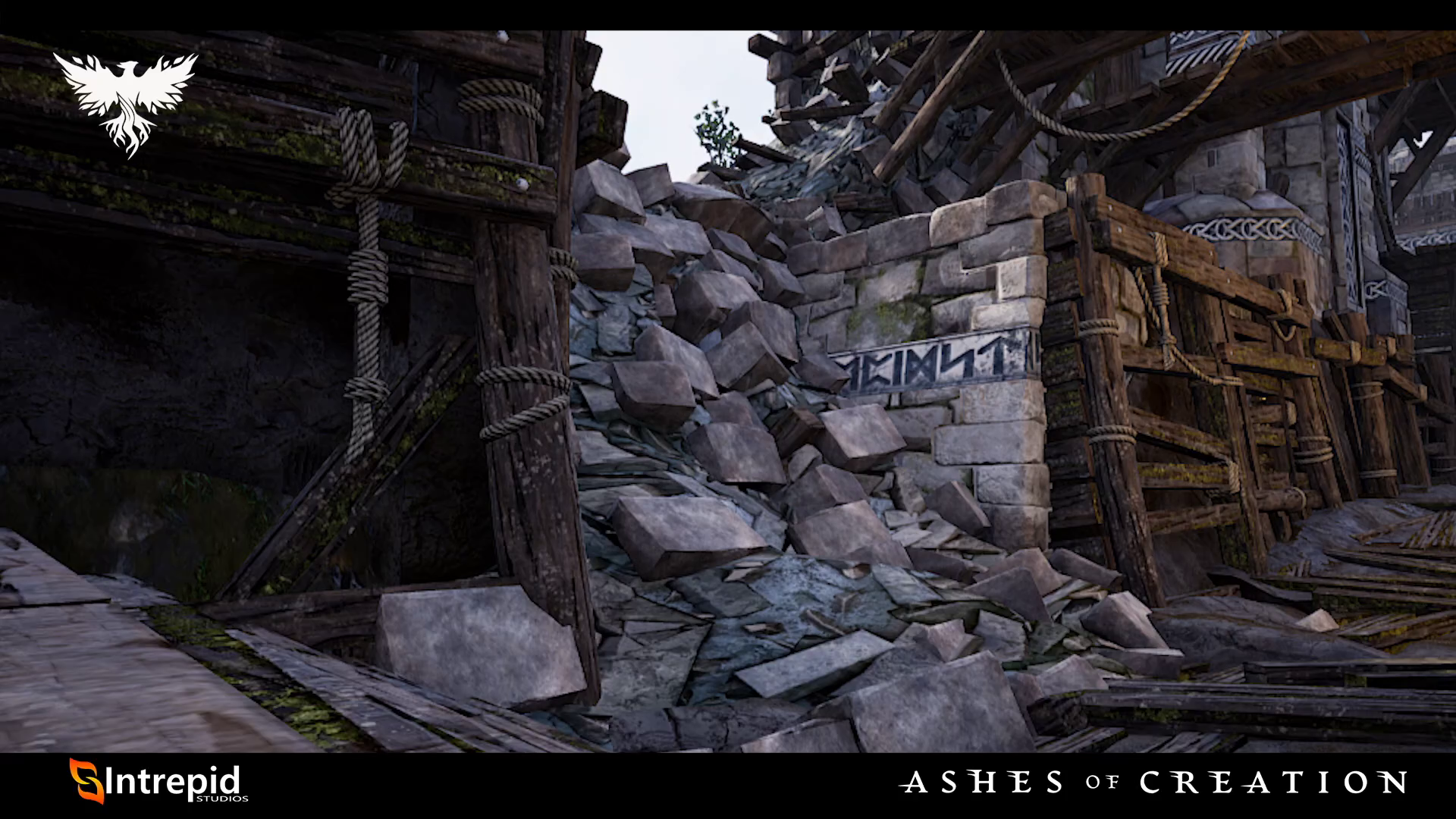 Asedio ashes of creation destruido edificio