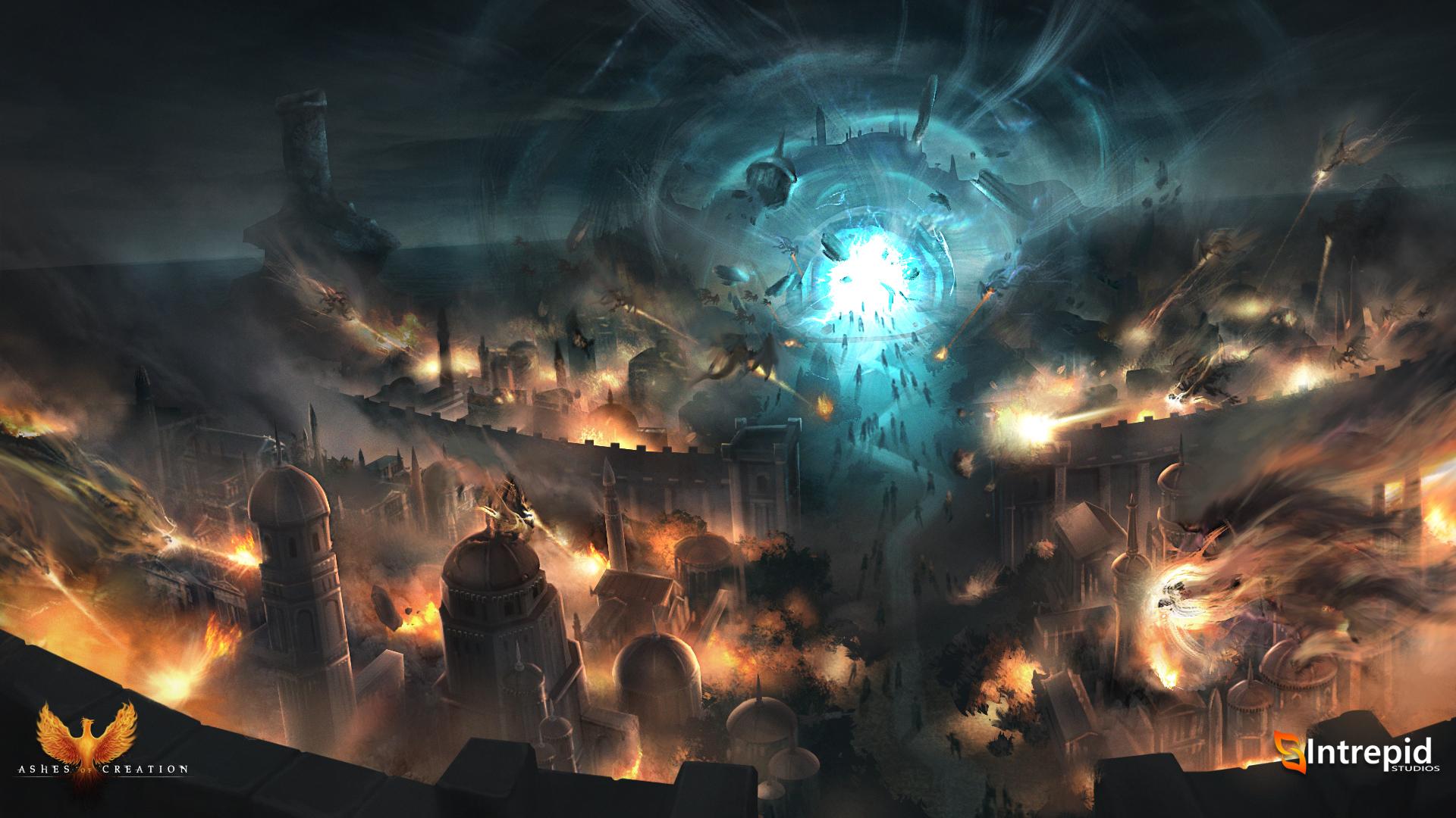 Ciudad asediada de Ashes of Creation