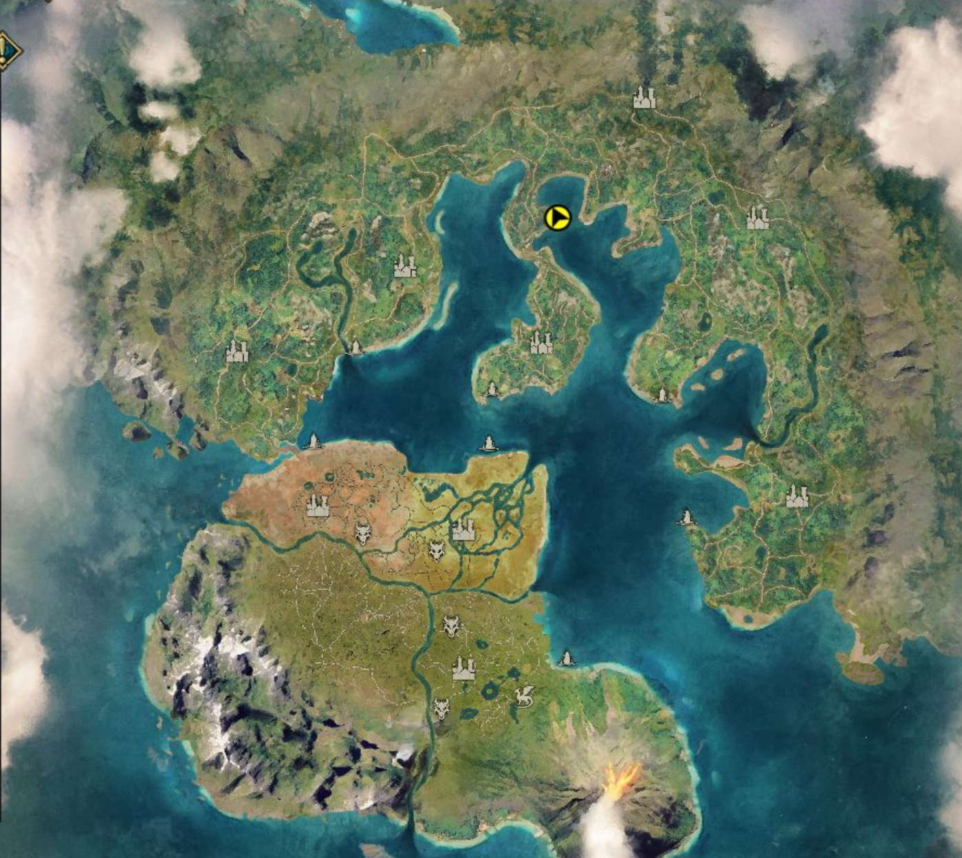 Mapa del test del Alpha 1 de Ashes of Creation en Español web