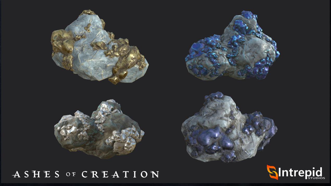minerales mining ashes of creation en español alpha