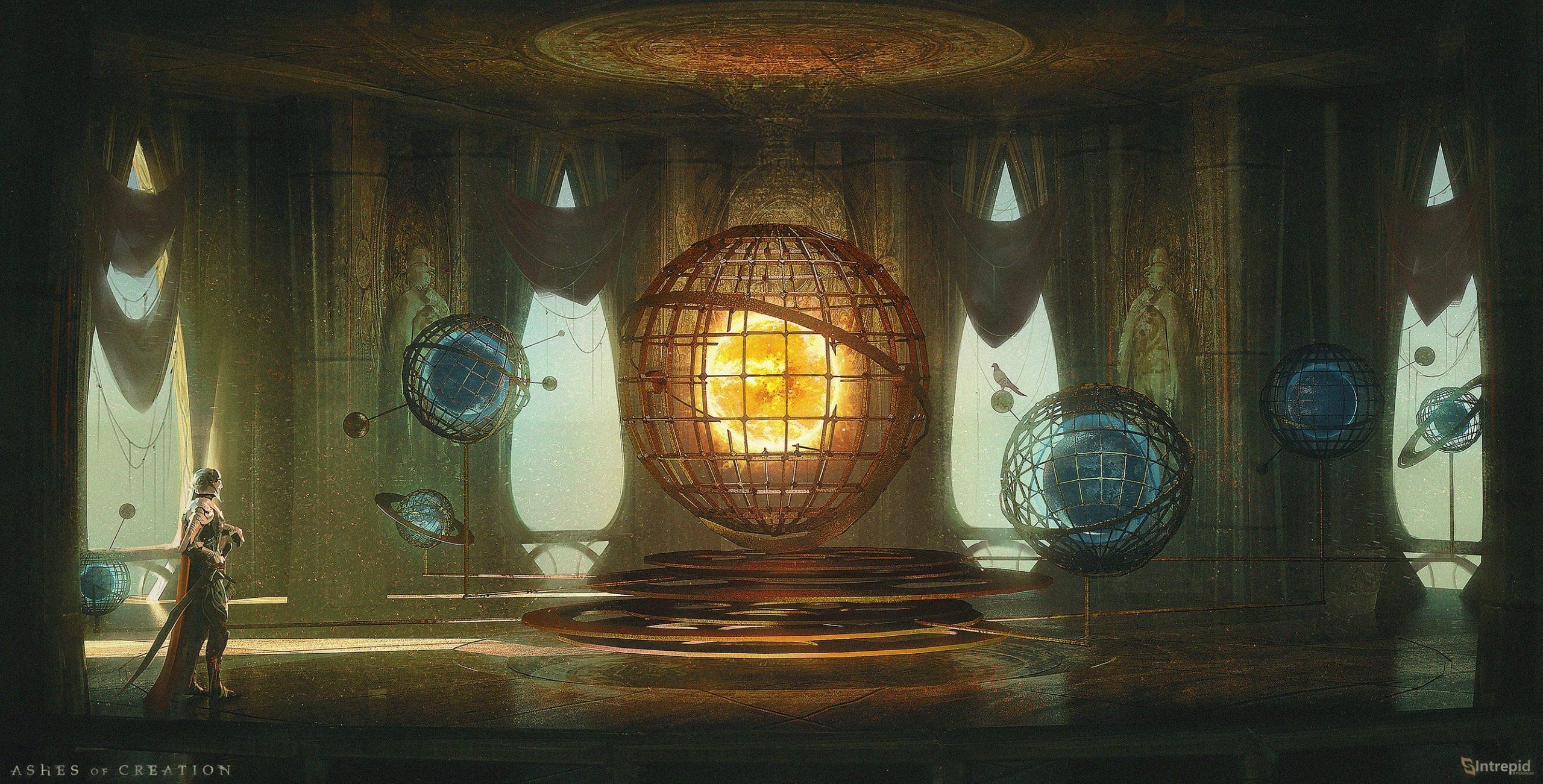 """Los Dioses son seres de La Esencia, que es una energía metafísica o una especie de fuerza vital que puede manipularse para crear lo que podría verse como magia. Los dioses son capaces de llegar al plano material a través de las almas de sus seres divinos. En el caso de Los Siete, estas son las cuatro grandes razas y sus descendientes. Existían estos panteones de dioses que existían en un reino fuera del plano material en el que existe Verra y en realidad eran seres de lo que se llama La esencia. La esencia es esencialmente esta energía o fuerza vital casi metafísica que puede manipularse para crear magia y / o lo que consideraríamos mágico; y los diferentes planos tienen diferentes grados de fuerza cuando se trata de su proximidad a la esencia. El plano material no es el más alto en esa escala de estar cerca de la esencia; y los dioses existen en un plano que está más conectado con la esencia. - Steven Sharif Los Dioses en las Cenizas de la Creación representan diferentes aspectos del Universo y también sentimientos. Diosa del amor. Diosa de la creación. El Fénix es el avatar celestial de la Diosa de la Creación. Diosa del destino (Norlan). Dios de la esperanza (Resna). Dios de la verdad (Shol). La esfera de influencia de los tres """" Otros """" dioses aún no ha sido revelada. Cada dios ... tiene un reino específico con el que se relacionan en el mundo y su creación. - Steven Sharif Tenemos una tradición muy rica sobre el panteón de los dioses, pero es algo que quiero asegurarme de que los jugadores lo descubran en el juego, no de lo que se cuente. - Steven Sharif"""