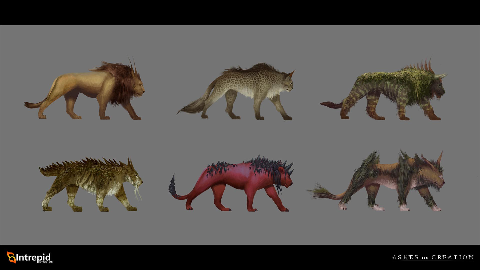 variedad criaturas asheso of creation en español taming domadura bestias
